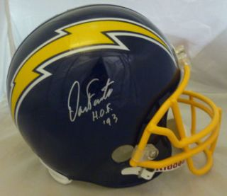 Dan Fouts Autographed Signed San Diego Chargers Full Size Blue Helmet