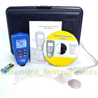 DT 156 Paint Coating Thickness Gauge Meter F NF USB Multi Calibration
