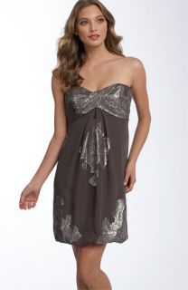 Nicole Miller Metallic Floral Dress