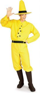 Curious George Man in The Yellow Hat Adult Costume