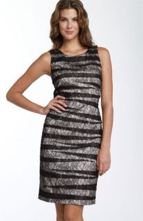 Calvin Klein Stripe Lace Sheath Dress