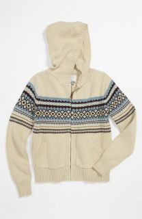 Peek Fair Isle Knit Hoodie (Toddler, Little Boys & Big Boys)