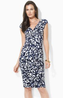 Lauren Ralph Lauren Floral Stretch Jersey Dress (Petite)