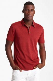 John Varvatos Collection Silk & Cotton Jersey Polo