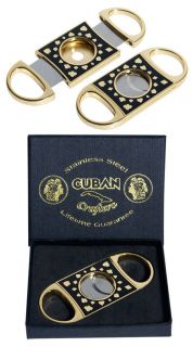 Cuban Crafters Perfect Cigar Cutter Poker Gold Lifetime Guaranteed New