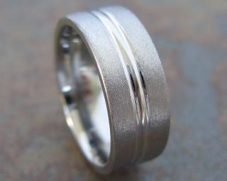 Custom Made Stainless Steel Wedding Rings Bands Mens
