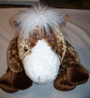 Dan Dee Collectors Choice Stuffed Animal Large Horse Pony Brown White