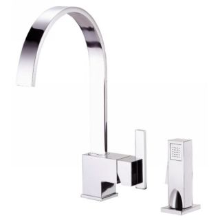 Danze D401544 Single Handle Kitchen Faucet with Side Spray Chrome