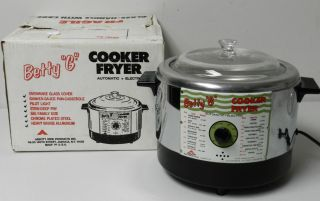 Vintage Betty G Deep Fryer Cooker Automatic Electric USA New in Box
