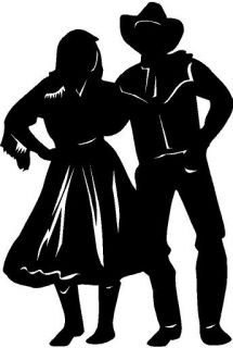 Country Dancers Male Female Vinyl Decal Sticker Car Truck Signs Window
