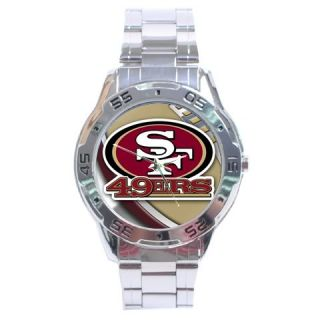 NEW* *SAN FRANCISCO 49ERS SEXY NFL ANALOG WATCH STAINLESS STEEL*