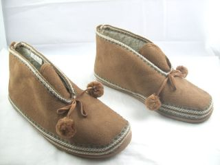 Deer Stags Indoor Outdoor Nordic Trim Microsuede Slipperooz 10 M Brown
