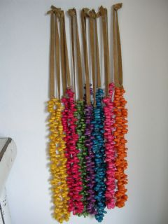Dried corn kernel painted necklaces or wall hangings art Native