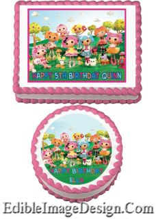 Lalaloopsy Doll Edible Cake Image Topper Party Supplies