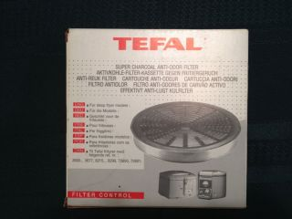 TEFAL Deep Fryer Super Charcoal Anti Odor Filter 799859   Round   NEW