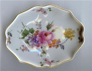 English Royal Crown Derby Fine China Dish Derby Posies
