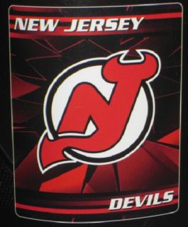 New Jersey Devils Soft Fleece Throw Gift Blanket NHL Hockey Team Logo