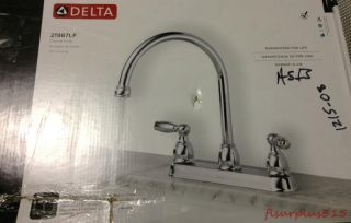 Delta Foundations 2 Handle Kitchen Faucet in Chrome 21987LF   Lot 1215