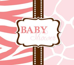 25 Wild Safari Pink Zebra Baby Shower Party Invitations