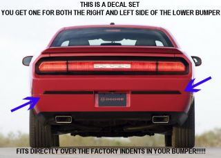 Dodge Challenger Custom Stripes Rear Bumper Decals L K