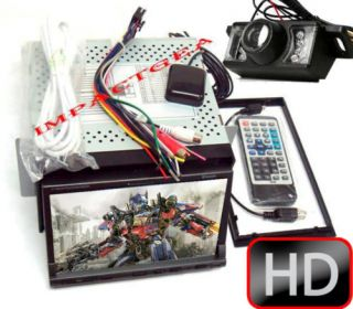 Double DIN HD GPS DVD Bluetooth Back Up Camera New