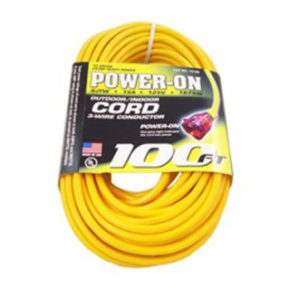 12 3 100 ft Feet SJTW Yellow Heavy Duty Lighted Extension Cord
