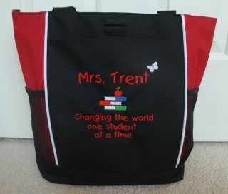 Tote Bag Personalized Zippered Teacher Change Student