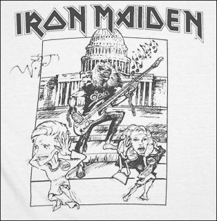 Iron Maiden Promo Epic Shirt Signed by Bruce Dickinson