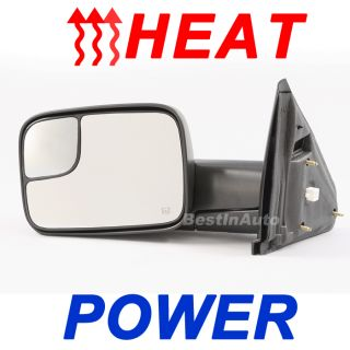 Dodge RAM Pickup Power Heat Driver Left LH camper Tow Side Door Mirror