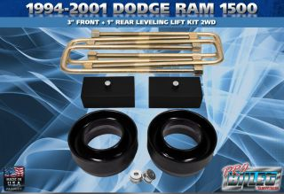 1994 2001 dodge ram 1500 2wd only kit includes 2x front poly lift