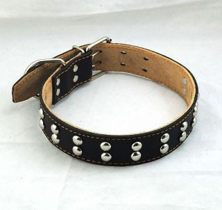 Dog Collars Genuine Leather Adjustable 48 60cm Pet Dog Product Collar