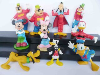 Duck Mickey Mouse Super Hero Goofy Figure Loose Set 2 3 DS4