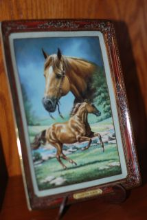 Franklin Mint Plate Quarter Horse