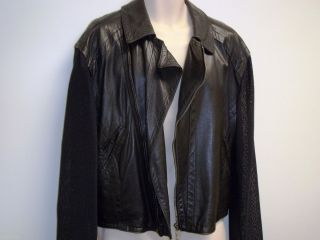 DIRK BIKKEMBERGS Vintage Black Slim Fitting Leather Jacket Couture Sz