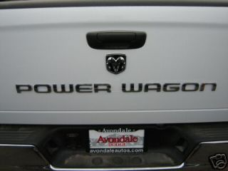 Dodge RAM Power Wagon Tailgate Nameplate Emblem Mopar