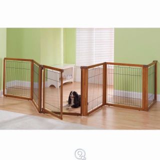 Only Convertible Dog Gate To Kennel Elite 6 Panel Gate 16.5 Feet Long