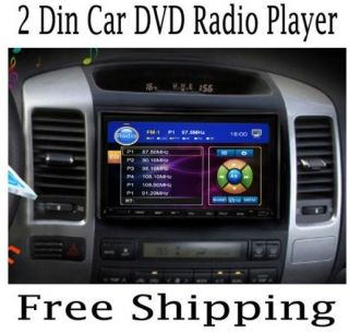 Double DIN 7 inch 2 DIN Car DVD Player Car Stereo Radio Touch Screen