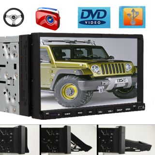Double DIN 7 Indeck Car DVD Player Touch Screen RDS Radio USB SD