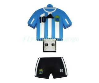 8GB 8G USB Flash Memory Drive GiftW Messi Wave Shirt Christmas gift