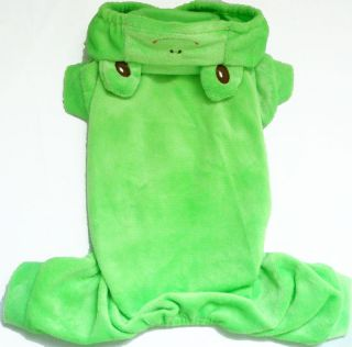 Green Frog Slip over Duck Cute costume dog clothes Chihuahua