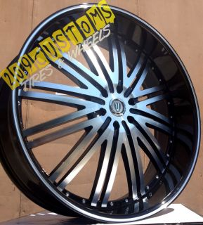 VERSANTE RIMS WHEELS TIRES VW212 22X8 CADILLAC ELDORADO 1995 1996 1997