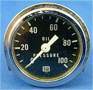 Stewart Warner Oil Gauge Rat Street HotRod Custom SCTA El Mirage