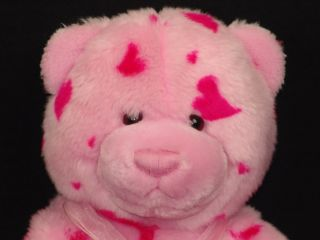 Gund Heads and Tales Pink Heart Valentine Plush Teddy Bear Stuffed