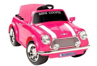 Electric Ride On 6V Pink Mini Cooper Rideon Car Battery Power Vehicle