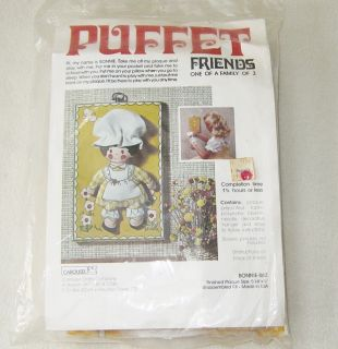 NEW Vintage Carousel Crafts Brand Puppet Friends BONNIE 862 Complete