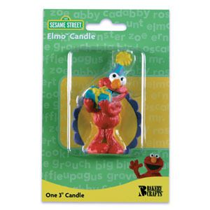 ELMO Sesame Street Holding Present Birthday Party Cake Topper