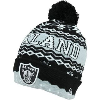New Era Oakland Raiders Weather Advisory Cuffed Knit Beanie   Black