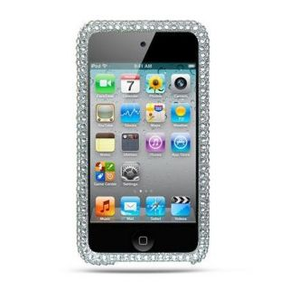 Elegant Silver Rhinestone Diamond Bling Case for Apple iPod Touch 4