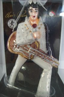 ELVIS PRESLEY CHRISTMAS ORNAMENT BLOWN GLASS KURT S. ADLER SIGNATURE