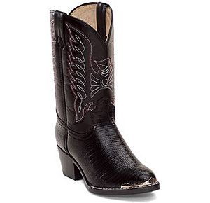 Durango BT940 Boots Cowboy Shoe Black Youth Kid Boys Sz